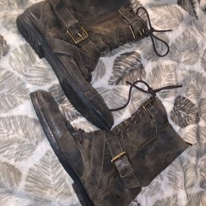 Authentic Rustic Michael Kors Combat boots